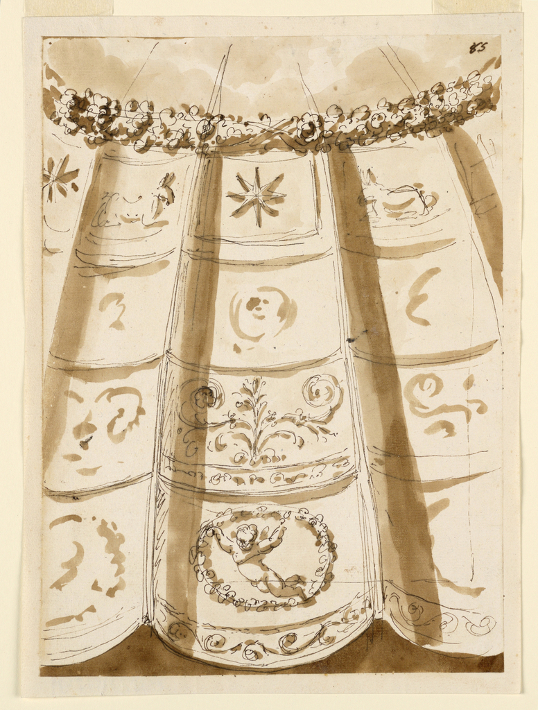 Drawing, Decoration for a dome