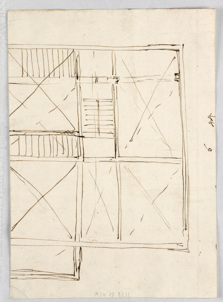 Drawing, Plans of a house