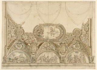 Drawing, Design for the Decoration of the ceiling of a chapel, 1725–1740