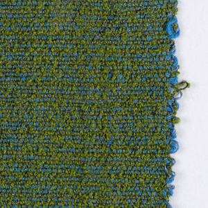 Hand woven textured blue and green fabric.
