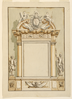 Drawing, Wall Decoration with Mili, 1775–1800