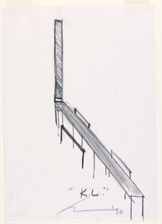 Drawing, King Lear, Scene II: Study for Bench and Railing