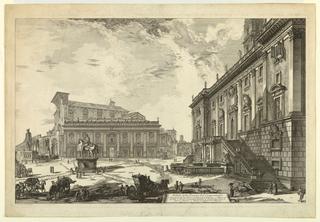 Print, Piazza del Campidoglio, 1774 (printed date)