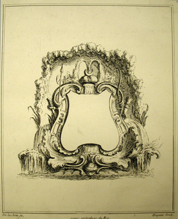 Print, Design for a Cartouche Evoking the Continent of Asia