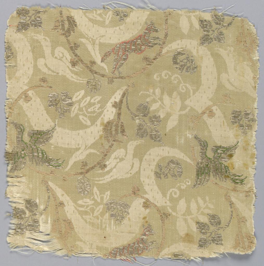 Scrolls , birds and vines.