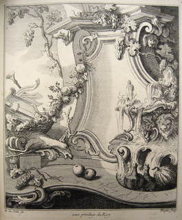Print, Design for a Cartouche