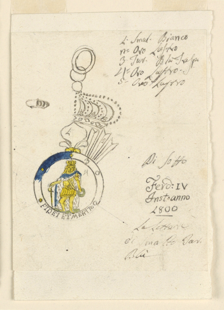 Drawing, Design for a Badge of the Sicilian Military Order