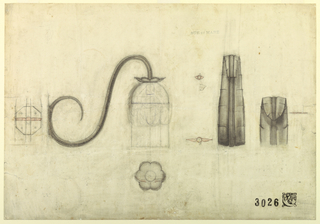 Drawing, Design for a Bracket Lamp, ca. 1925