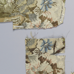 fragments of a woven silk in the landscape style