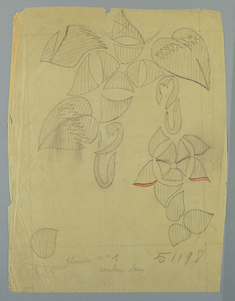 Drawing, Textile Design:  Tropical Flowers, 1912–13
