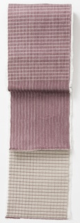 Sample of beige lines and grids on light purple.