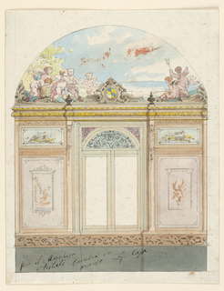 Drawing, Painted Wall Decoration, 1870
