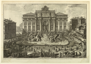 Print, Fountain of Trevi, 1748–78 (printed date)