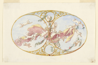 Drawing, Painted Ceiling