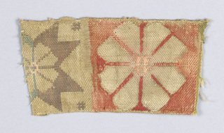 Fragment with rosette and part of an eight pointed star.