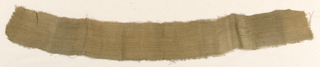 Very small fragment of linen from a mummy wrapping.