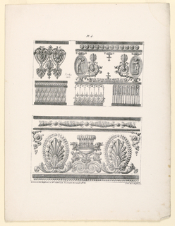 Print, Three Friezes, plate 4 fr, 1823