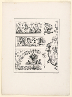 Print, Three Friezes and Ornamen, ca. 1825