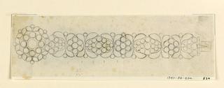 Drawing, Design for a bracelet, 1820–25