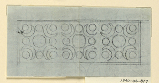 Drawing, Design for a comb, 1800–1810