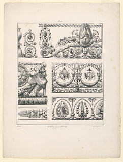 Print, Friezes, Panels and Ornam, 1827