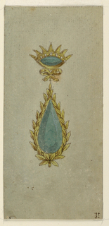 Drawing, Design for a pendant, 1815–25