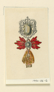 Drawing, Design for a badge, 1820