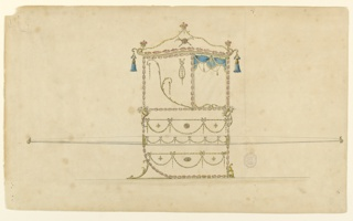 Drawing, Design for a Sedan Chair