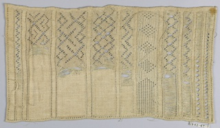 Sampler with ten cross borders.