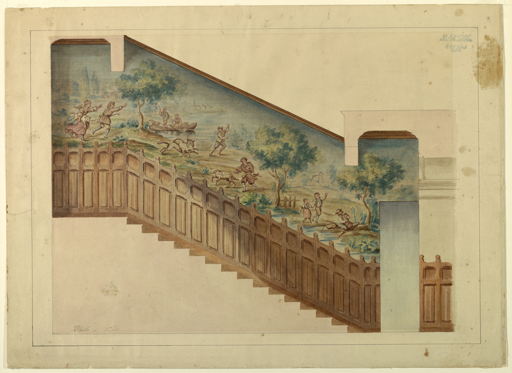 Drawing, Design for Portion of Stairway in Château-sur-Mer, Newport, Rhode Island, 1872
