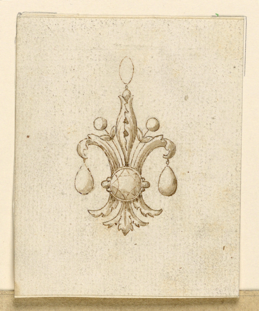 Drawing, Design for a pendant, 1825–50