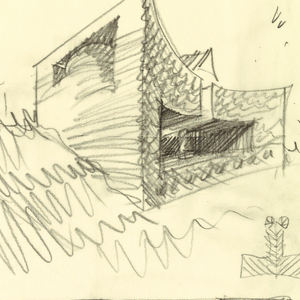 Drawing, Design for a Private House, Morbio Superiore, Switzerland