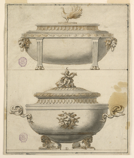 Drawing, Two Tureens, 1790