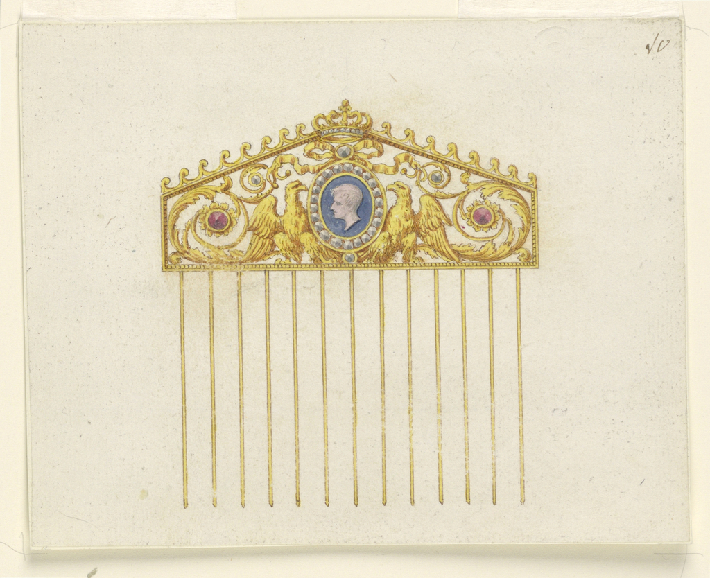 Drawing, Design for a comb