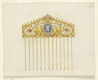 Drawing, Design for a comb, 1810–20