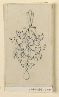 Drawing, Design for a pendant, 1840–60