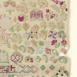 Small detached motifs of geometric and conventionalized floral forms.