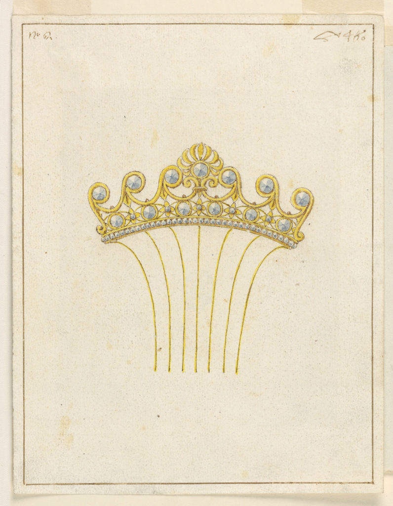 Drawing, Design for comb