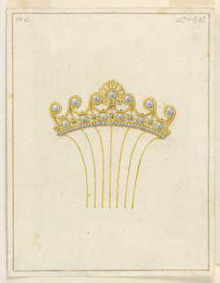 Drawing, Design for comb, 1825–50