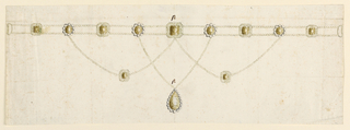 Drawing, Necklace, 1800–1825
