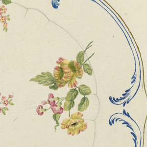 Drawing, Design for a Painted Porcelain Tray