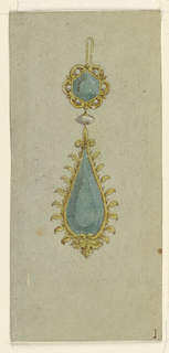 Drawing, Design for earring, 1815–25