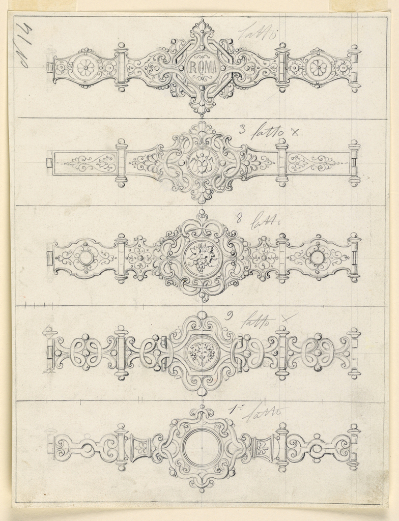 Drawing, Designs for a Bracelet, 1875–1900