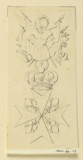 Drawing, Design for badge, 1820