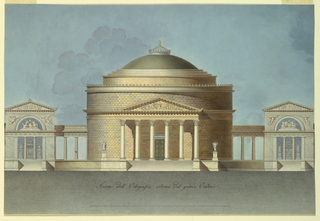 Drawing, Design for an Oratory (Memorial Chapel)