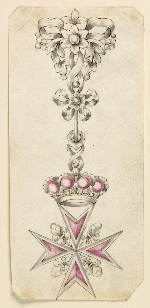 Drawing, Design for a Badge of the Tuscan Order of St. Stephen