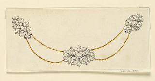 Drawing, Design for necklace, 1825–40