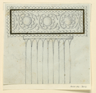 Drawing, Design for comb, 1800–1810