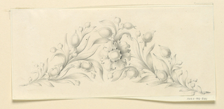 Drawing, Design for diadem, 1840
