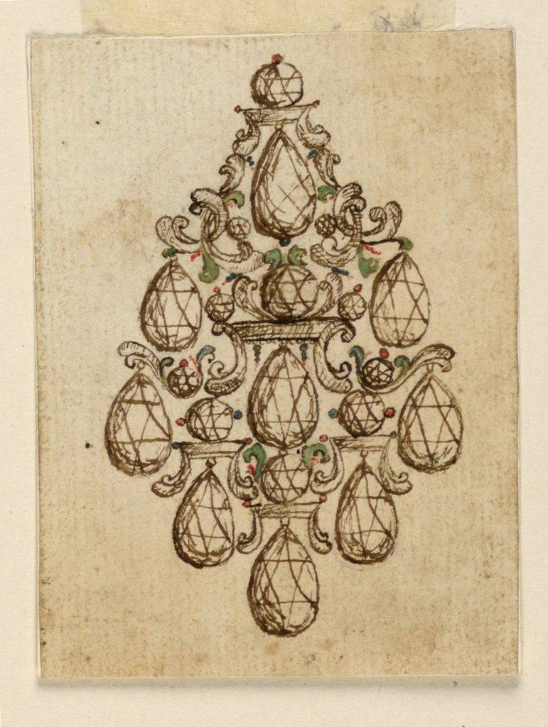 Drawing, Design for a Brooch, mid- 18th century
